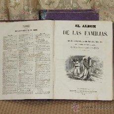 Coleccionismo de Revistas y Periódicos: 3099- EL ALBUM DE LAS FAMILIAS. PERIODICO SEMANAL. 3 TOMOS. VER DESCRIPCION. . Lote 37085489