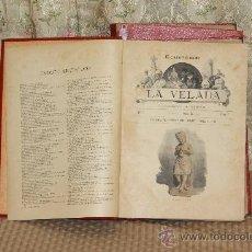 Coleccionismo de Revistas y Periódicos: 3104- LA VELADA. SEMANARIO ILUSTRADO. EDIT. ESPASA. 1892/1894. 2 TOMOS. . Lote 37086969