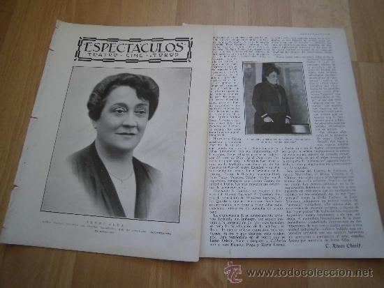 ACTRIZ IRENA ALBA QUE HA FALLECIDO RECIENTEMENTE EN BARCELONA 2 HOJAS DE REVISTA BLANCO Y NEGRO 1930 (Coleccionismo - Revistas y Periódicos Modernos (a partir de 1.940) - Otros)