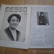 Coleccionismo de Revistas y Periódicos: ACTRIZ IRENA ALBA QUE HA FALLECIDO RECIENTEMENTE EN BARCELONA 2 HOJAS DE REVISTA BLANCO Y NEGRO 1930. Lote 37097473