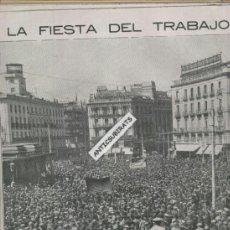 Coleccionismo de Revistas y Periódicos: REVISTA AÑO 1923 MANIFESTACION 1 DE MAYO PASEO CASTELLANA MADRID SITIO DE BILBAO ECHEVARRIETA MAEZTU. Lote 37106977