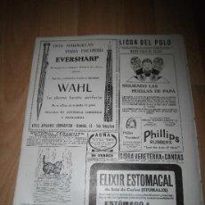 Coleccionismo de Revistas y Periódicos: PUBLICIDAD PLUMA Y LAPICERO EVERSHARP / TRUST JOYERO HOJA DE REVISTA NUEVO MUNDO 1921. Lote 37126833