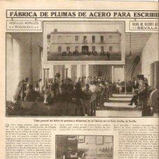 Coleccionismo de Revistas y Periódicos: AÑO 1913 SEVILLA INDUSTRIAS FABRICAS JABONES ACEITE HIJOS LUCA DE TENA PLUMAS DE ACERO VICENTE ACEÑA. Lote 37171897