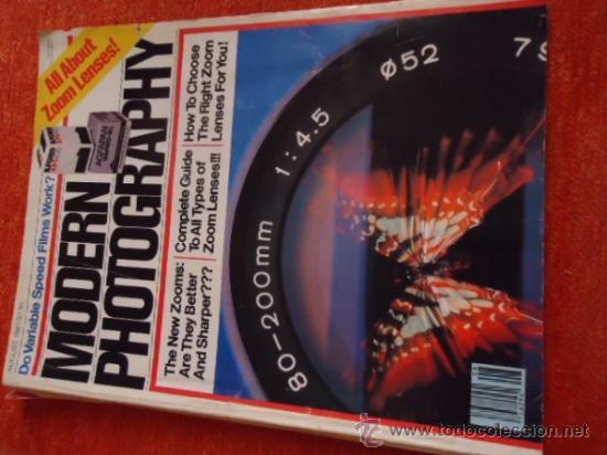 MODERN PHOTGRAPHY AGOSTO 1981 VOLUMEN 45 N 8 (Coleccionismo - Revistas y Periódicos Modernos (a partir de 1.940) - Otros)