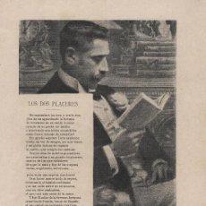 Coleccionismo de Revistas y Periódicos: LOS DOS PLACERES / VERSOS DE SINESIO DELGADO - 1913?. Lote 37211004