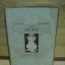 Coleccionismo de Revistas y Periódicos: REVISTA GRAN TEATRO DEL LICEO - TEMPORADA 1953 - 54. Lote 37228971