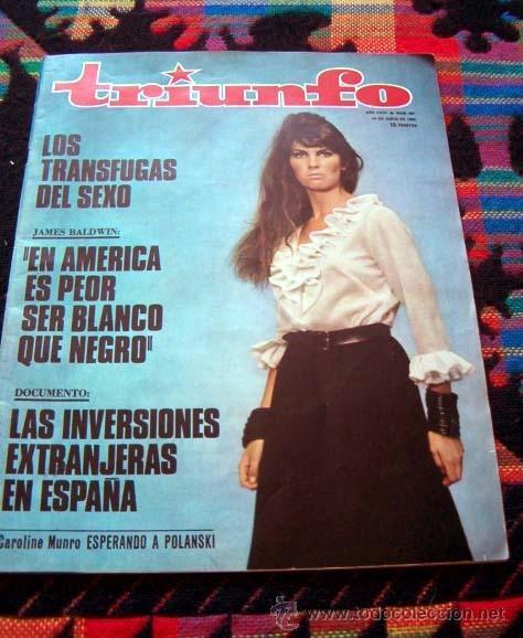REVISTA TRIUNFO 1969 / CAROLINE MUNRO, PABLO PICASSO, NURIA ESPERT (Coleccionismo - Revistas y Periódicos Modernos (a partir de 1.940) - Otros)