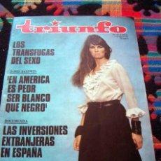 Coleccionismo de Revistas y Periódicos: REVISTA TRIUNFO 1969 / CAROLINE MUNRO, PABLO PICASSO, NURIA ESPERT. Lote 37251763