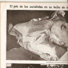 Coleccionismo de Revistas y Periódicos: AÑO 1925 ANTONIO MAURA MUERTE PABLO IGLESIAS SOCIALISTAS PSOE NICOLAS MARIA DE URGOITI GALAPAGAR. Lote 37278002