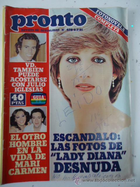 Revista Pronto Nº 478 Lady Diana Desnuda Sold At Auction 37298992