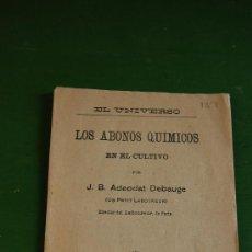 Coleccionismo de Revistas y Periódicos: EL UNIVERSO, LOS ABONOS QUIMICOS EN EL CULTIVO, ADEODAT DEBAUGE,1905. Lote 37345849