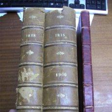 Coleccionismo de Revistas y Periódicos: IRIS REVISTA SEMANAL ILUSTRADA / 3 TOMOS AÑOS 1899 - 1900 - 1901. Lote 37434391