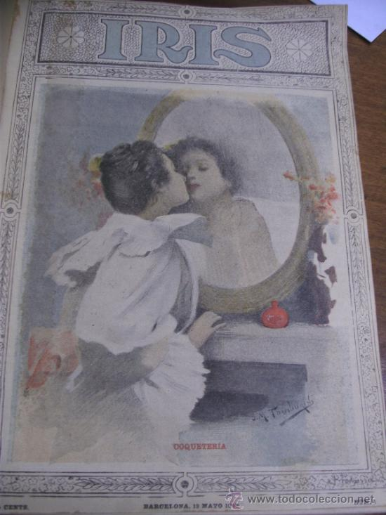 Coleccionismo de Revistas y Periódicos: IRIS REVISTA SEMANAL ILUSTRADA / 3 TOMOS AÑOS 1899 - 1900 - 1901 - Foto 5 - 37434391