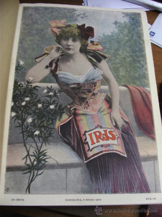 Coleccionismo de Revistas y Periódicos: IRIS REVISTA SEMANAL ILUSTRADA / 3 TOMOS AÑOS 1899 - 1900 - 1901 - Foto 7 - 37434391