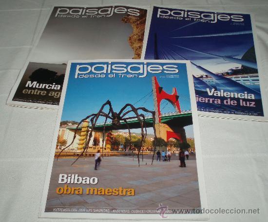TRES REVISTAS PAISAJES DESDE EL TREN AÑO 2009 BILBAO-VALENCIA-MURCIA (Coleccionismo - Revistas y Periódicos Modernos (a partir de 1.940) - Otros)