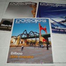 Coleccionismo de Revistas y Periódicos: TRES REVISTAS PAISAJES DESDE EL TREN AÑO 2009 BILBAO-VALENCIA-MURCIA. Lote 37461209