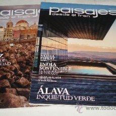Coleccionismo de Revistas y Periódicos: DOS REVISTA PAISAJES DESDE EL TREN AÑO 2012 . Lote 37461295