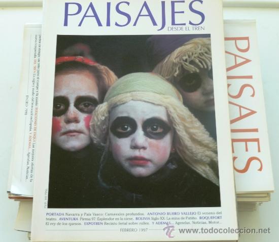 PAISAJES DESDE EL TREN. LOTE DE 31 EJEMPLARES. TRENES . (Coleccionismo - Revistas y Periódicos Modernos (a partir de 1.940) - Otros)