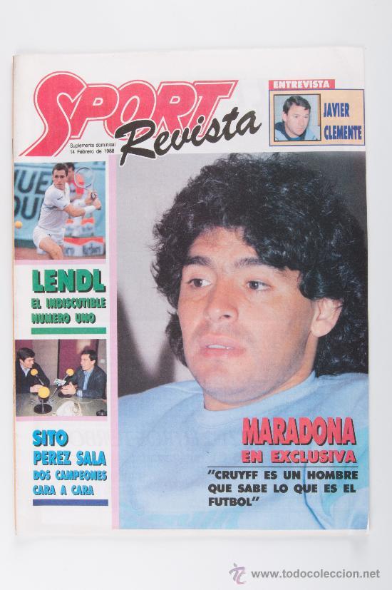 REVISTA SPORT, AÑO 1988 MARADONA (Coleccionismo - Revistas y Periódicos Modernos (a partir de 1.940) - Otros)
