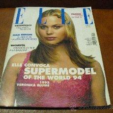 Coleccionismo de Revistas y Periódicos: REV.ELLE 4/1994- VERONICA BLUME AMPLIO RPTJE.LIAM NEESON,MODA, SUPERMODELS,,MUSICA,CINE. Lote 37853100