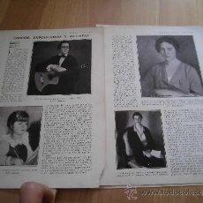 Coleccionismo de Revistas y Periódicos: EXPOSICIONES MIGUEL DEL PINO,BENJAMIN PALENCIA 4 HOJAS REVISTA BLANCO Y NEGRO 1930. Lote 37873920