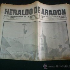 Coleccionismo de Revistas y Periódicos: PERIODICO HERALDO DE ARAGON DEL 11 DE OCTUBRE DE 1931. Lote 37903149