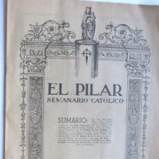 Coleccionismo de Revistas y Periódicos: EL PILAR / SEMANARIO CATOLICO JULIO DE 1950 / SANTA MARIA GORETTI / ZARAGOZA. Lote 37970546