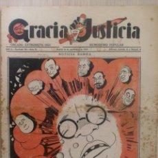 Coleccionismo de Revistas y Periódicos: REVISTA GRACIA Y JUSTICIA. ORGANO EXTREMISTA DEL HUMORISMO POLULAR. AÑO III Nº 91 MADRID SEPBRE 1933. Lote 37981743