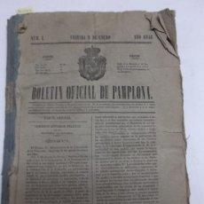 Coleccionismo de Revistas y Periódicos: BOLETIN OFICIAL DE PAMPLONA, AÑO 1846, 75 PERIODICOS COMPRENDICOS ENTRE Nº 1 Y EL 153. 23X31 CM.. Lote 37995600