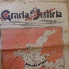 Coleccionismo de Revistas y Periódicos: REVISTA GRACIA Y JUSTICIA. ORGANO EXTREMISTA DEL HUMORISMO POLULAR. AÑO IV N 112 MADRID FEBRERO 1934. Lote 38007375