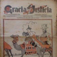 Coleccionismo de Revistas y Periódicos: REVISTA GRACIA Y JUSTICIA. ORGANO EXTREMISTA DEL HUMORISMO POLULAR. AÑO IV Nº 107 MADRID ENERO 1934. Lote 38007405