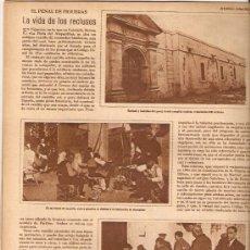 Coleccionismo de Revistas y Periódicos: AÑO 1930 VIDA RECLUSOS CARCEL FIGUERES PRESOS TEMPORAL VIGO VAPOR LOLIN ALFAGEME MAESTRO PADILLA. Lote 38008625