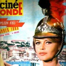 Coleccionismo de Revistas y Periódicos: CINEMONDE: BRIGITTE BARDOT + FESTIVAL CANNES 1963 + GUY BEART + JOHNNY HALLYDAY + SYLVIE VARTAN . Lote 38040223