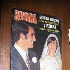Coleccionismo de Revistas y Periódicos: REVISTA SEMANA / Nº 1531 JUNIO DE 1969 / BODA DE PIRRI, SONIA BRUNO EN MINIFALDA. Lote 38046795