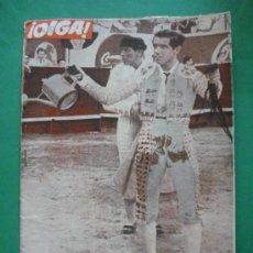 Coleccionismo de Revistas y Periódicos: ¡ OIGA ! SEMANARIO GRAFICO DE ACTUALIDADES,TOROS Y DEPORTES-SEVILLA AÑO IV .Nº 113 24-04-1956. Lote 38114540