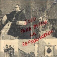 Coleccionismo de Revistas y Periódicos: ZARAGOZA 1890 PEREGRINACION DEL PILAR HOJA REVISTA. Lote 38253661