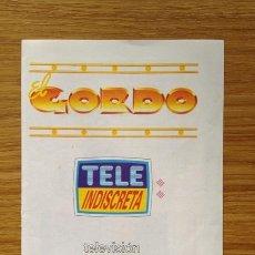 Coleccionismo de Revistas y Periódicos: CUPÓN Y BASES DE PARTICIPACIÓN EL GORDO DE TELEINDISCRETA 1992. Lote 38291124