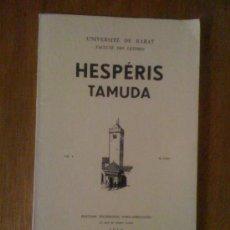 Coleccionismo de Revistas y Periódicos: HESPÉRIS TAMUDA VOL. I FASC. II (1960), CON ARTÍCULOS DE ARRIBAS PALAU Y M. TARRADELL. Lote 38311254