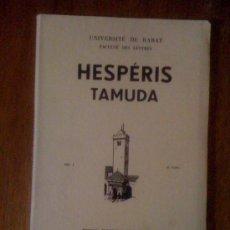 Coleccionismo de Revistas y Periódicos: HESPÉRIS TAMUDA VOL. I FASC. II (1960), CON ARTÍCULOS DE ARRIBAS PALAU Y M. TARRADELL. Lote 38376750