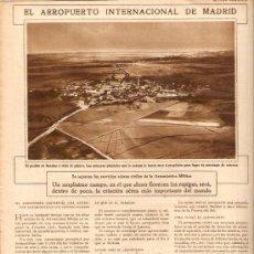 Coleccionismo de Revistas y Periódicos: AÑO 1929 AEROPUERTO MADRID BARAJAS FUNDACION CESAREO DEL CERRO FIESTAS SANTA TECLA TARRAGONA XIQUETS. Lote 38403443