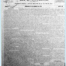 """Coleccionismo de Revistas y Periódicos: 1870.-LA QUINCENA.PERIODICO, SUPLEMENTO POLITICO Y REVISTA MERCANTIL DE """"LA VOZ DE CUBA"""" 4 PAG.. Lote 38428062"""