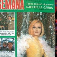 Colecionismo de Revistas e Jornais: REVISTA SEMANA / RAFFAELLA CARRA, LO MEJOR DE 1976, JESSICA LANGE, LINDA BLAIR, LIZ TAYLOR. Lote 38443943