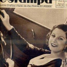 Coleccionismo de Revistas y Periódicos: REVISTA ESTAMPA 2 JUNIO 1934. Lote 77298950