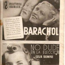 Coleccionismo de Revistas y Periódicos: AÑO 1941 REVISTA MENSUAL MUJER MODA PASTA DENTRIFICA CALBER BARACHOL . Lote 38454266