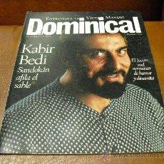 Coleccionismo de Revistas y Periódicos: REV.DOMINICAL 7/1996.KABIR BEDI AMPL.RPTJE.MARK KNOPFLER,JOELY RICHARDSON,WINONA RYDERR. Lote 38484703