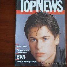 Coleccionismo de Revistas y Periódicos: TOP NEWS - Nº 9 - FEBRERO DE 1987 / BRUCE SPRINGSTEEN / ROB LOWE / 10 AÑOS DE PUNK. Lote 38513897