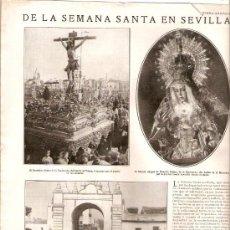 Coleccionismo de Revistas y Periódicos: AÑO 19?? SEMANA SANTA EN SEVILLA INAUGURACION DEL MERCADO DE LA PUERTA DE LA CARNE. Lote 38515830