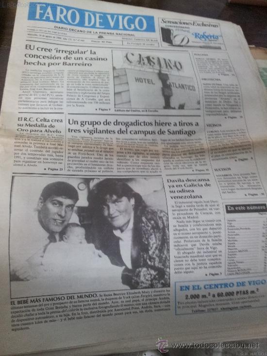 DIARIO FARO DE VIGO 1988 (Coleccionismo - Revistas y Periódicos Modernos (a partir de 1.940) - Otros)