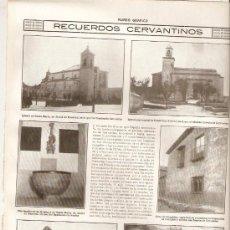 Coleccionismo de Revistas y Periódicos: AÑO 1916 CERVANTES ALCALA DE HENARES ESQUIVIAS TOLEDO ARGAMASILLA DE ALBA MONUMENTO. Lote 38583397