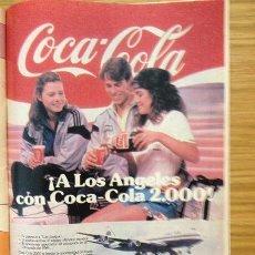 Coleccionismo de Revistas y Periódicos: ANUNCIO IMPRESO EN 1984 DE COCACOLA. Lote 38655972